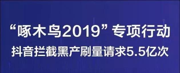 """抖音公布""""啄木鸟""""2019成果"""